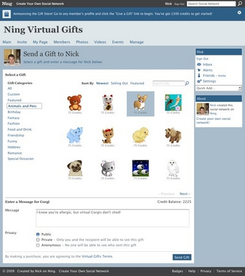 ning-Send-a-Gift