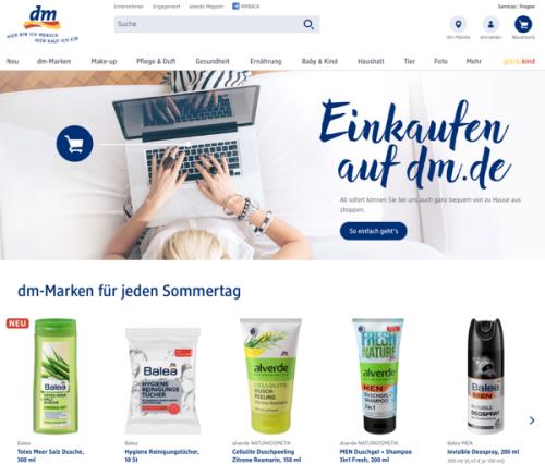 Dm Bringt Seinen Online Shop An Den Start Exciting Commerce