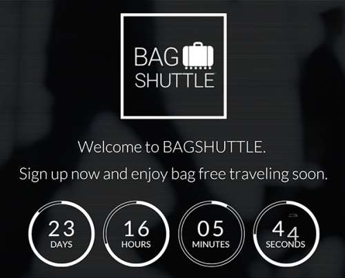 Bagshuttle Webseite Screenshot