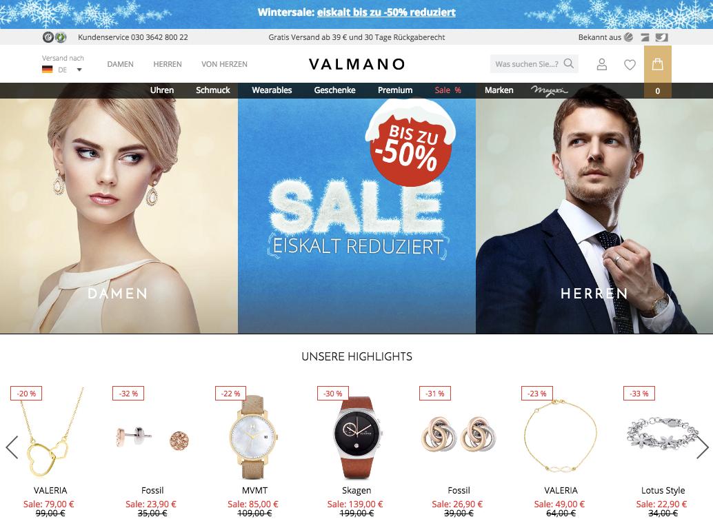 Valmano  Valmano: ProSiebenSat.1 gibt den Schmuckhandel auf – Exciting Commerce