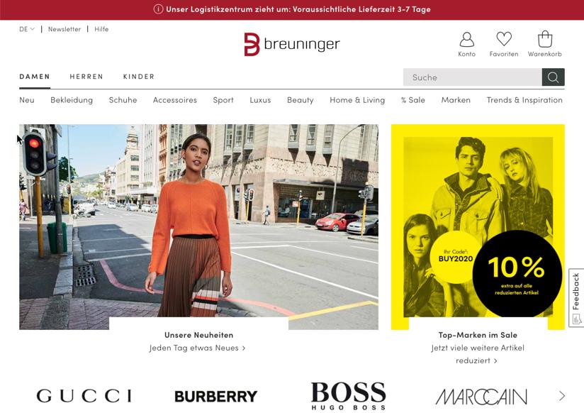 Breuninger will zum Marktplatz für exklusive Partner werden